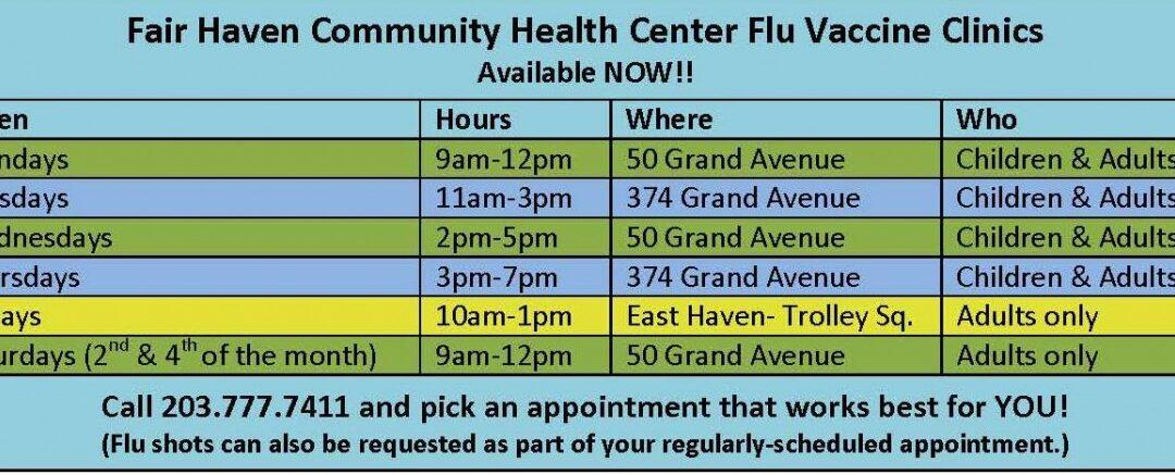 2017 Flu Clinic Schedule