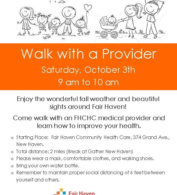 FHCHC Event: Walk with our Docs this Saturday, 10/3