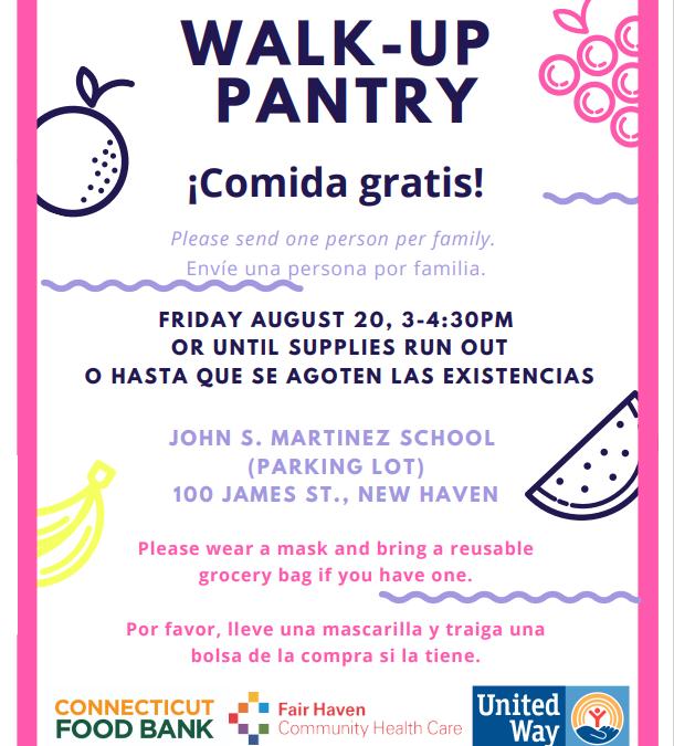 Walk-Up Pantry This Friday 08/20