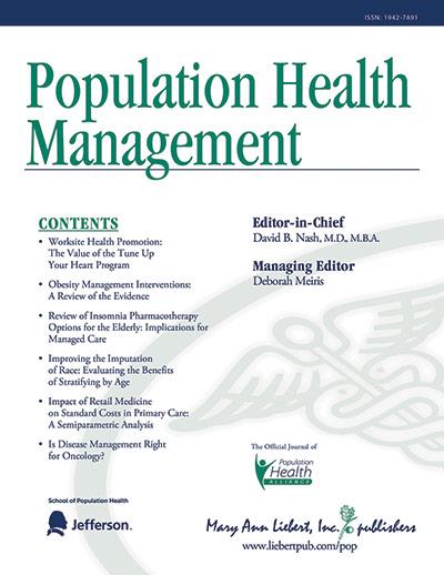 FHCHC Published in Population Health Management Journal